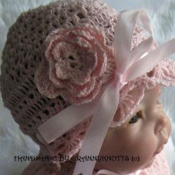 Crochet Flowered Baby Hat