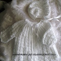 baby matinee jacket and hat- Call the Midwife