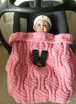 Chunky Knit - Newborn Baby Car Seat Cover