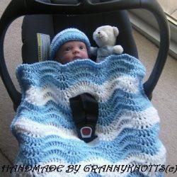 Chevron baby blanket crochet
