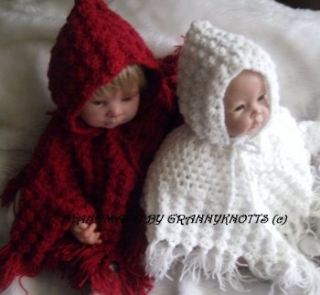 Baby knitted coat - Patience 2100 - Hooded Poncho