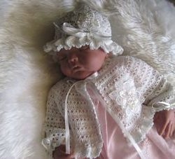 Crochet baby outfit - Applique Shrug Outfit - Sam 1901