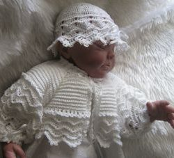 Crochet baby set - Chevron Thread Shrug Outfit - Sam 1901