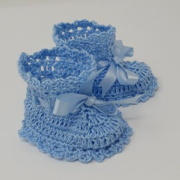 Blue Crochet Booties