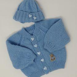 Blue Raglan Cardigan