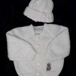 White Raglan Cardigan