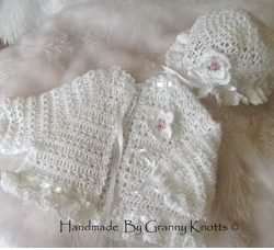 Preemie baby clothes - Thread Jacket Outfit - Elly 2001