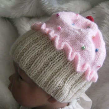 Pink Cup Cake Hat