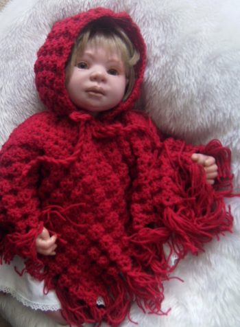 Red - Hooded Poncho