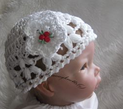 crochet baby girl hat - Beanie tribud hat