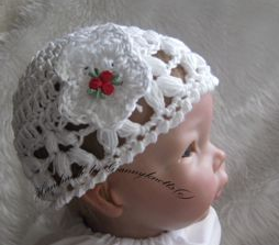 crochet baby girl hat - Beanie tribud hat