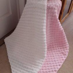 Pink & WhiteBaby Blanket