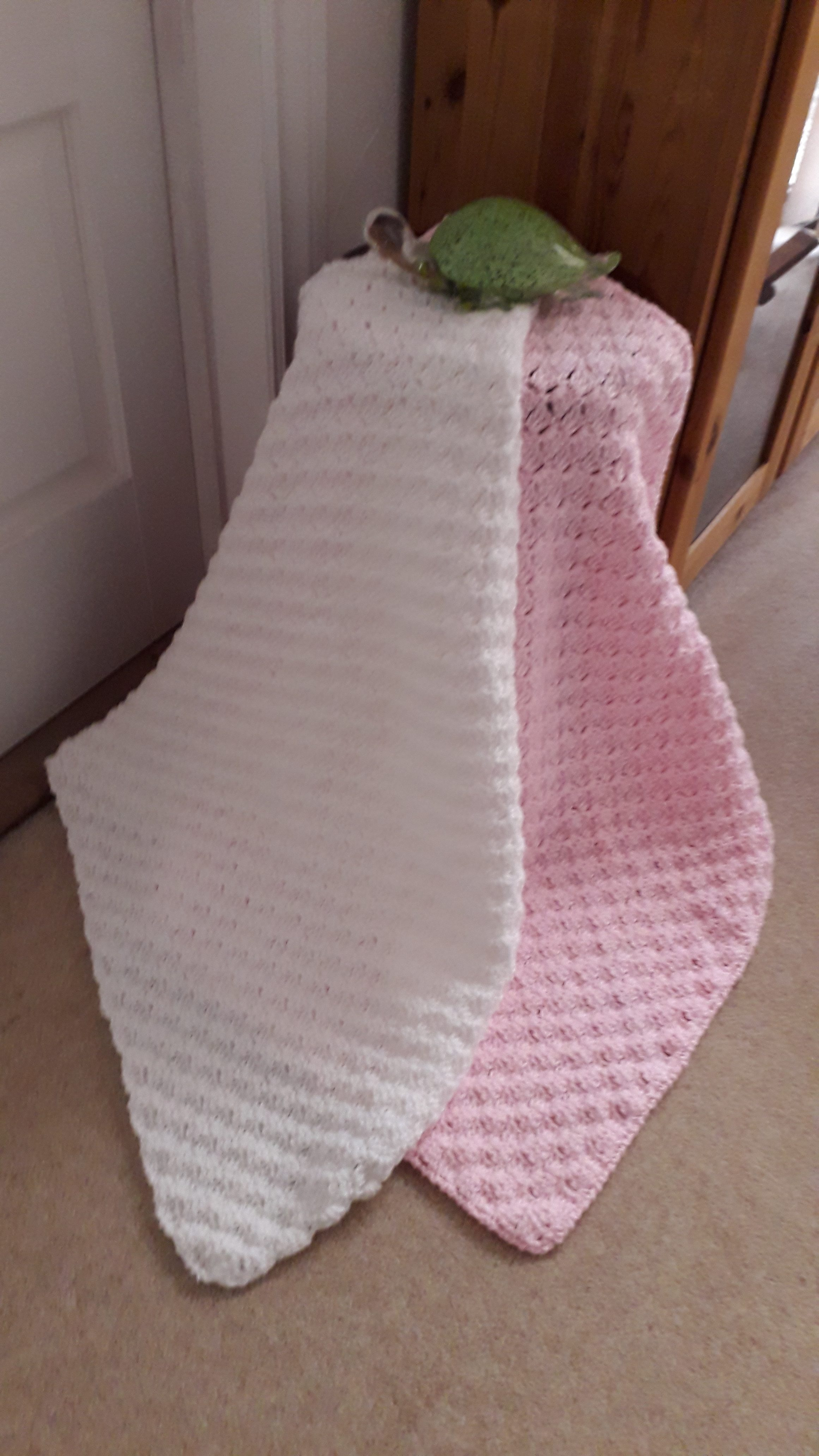 Crochet Baby Blanket Various Colours Available Granny Knotts