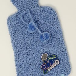 Pale Blue Hot Water Bottle Cover