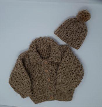 Aran Jacket and Hat