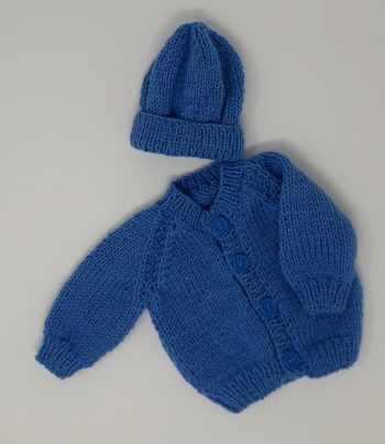 Premature baby Cardigan and Hat