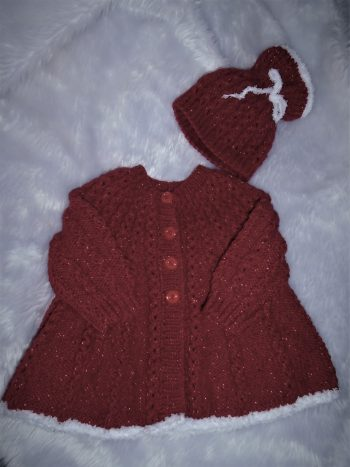Xmas Girls coat Set