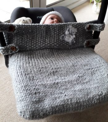 Grey Fitted Car Seat cover