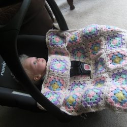 Granny Square Car Seat Cover
