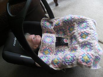 Granny Square Car Seat Cover
