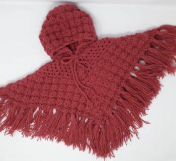 Raspberry Pink Poncho